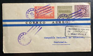 1930 Jalapa Guatemala First Day Cover FDC Air Mail Inauguration