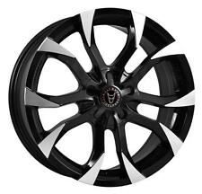 """16"""" WOLFRACE ASSASSIN BLACK POLISHED WHEELS ONLY BRAND NEW 4 X 100 / 114.3 RIMS"""