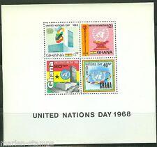 GHANA  IMPERFORATED SOUVENIR SHEET UN DAY 1968   SCOTT#347a  MINT NEVER HINGED
