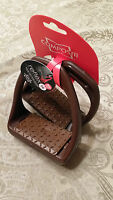 COMPOSITI REFLEX WIDE TRACK ENGLISH COMPOSITE STIRRUP IRONS (BROWN)