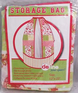 "STORAGE BAG  12"" x 22"" DRAWSTRING CLOSURE"