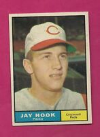 1961 TOPPS # 162 REDS JAY HOOK  EX-MT CARD (INV# A2388)