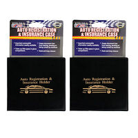 Sterling Auto Registration and Insurance Case, 2 Pack, Black (CP040)