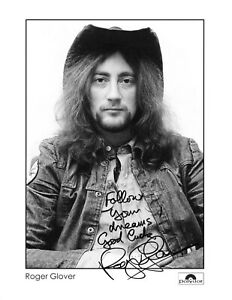 ROGER GLOVER (Deep Purple)  Autogramm original signiert Foto 20x25