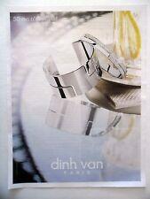PUBLICITE-ADVERTISING :  DINH VAN 50 ans d'esprit libre  2015 Bijoux