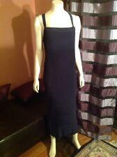YOSHI KONDO Women's  blue corrugated  sleeveless dress  one size