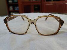 Vintage Retro 80s Women's Eyeglasses Glasses Frames Brown Tortoise