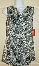 New Womens size Medium 8-10 Drape Neck Sleeveless Top Shirt Faded Glory