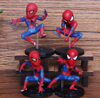 Marvel Pin Disney Spiderman Mystery Avengers 4pcs/set 6-8cm Action Figure Models