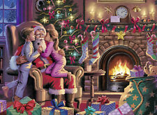 RAVENSBURGER CHRISTMAS PUZZLE*300 T*KISSING SANTA*KÜSSCHEN FÜR WEIHNACHTSMANN