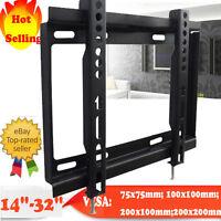 LCD LED Plasma Flat Tilt TV Bracket Wall Mount 14 15 17 19 20 22 23 27 30 32 US