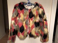 Patchwork Women's Faux Fur Coat