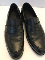 Harrys of London Shoes Black Leather Downing Casual Driving Loafers Mens 9.5