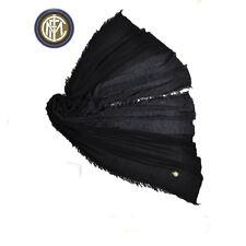 INTER pashmina ENZO CASTELLANO bufanda de hombre negra 100% viscosa 200x80 cm