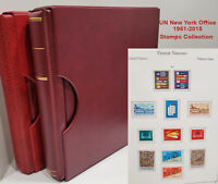 UN New York 1951-2015 Stamps Collection in 2 Kabe Binders & Some Loose Sheetlets