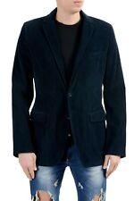 Dolce & Gabbana Men's Corduroy Blue Two Button Blazer Sport Coat US 38 IT 48
