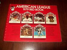 1979 American League Red Book ~ Media/Stats Guide