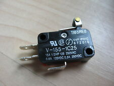 """Omron Micro Limit Switch with 1/2"""" Roller Lever V-155-1C25 15A 125/250VAC #E66E"""