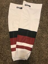 Pro Stock Arizona Coyotes Reebok Edge Hockey Socks Away White (NEW STYLE) XL