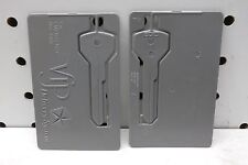 2 NOS Chrysler VIP Emergency Use Credit Card Blank Key, Gray, Free US Ship