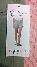 New Jessica Simpson Women's Rolled Cuff Shorts Size 6/28 Deep Lichen Green #D136