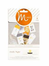 Heidi Swapp Crate Paper 8 Piece After Dark Minc Foil-Ready Tags