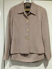 "LOVELY LADIES ""OJAY"" BEIGE SUIT ~ SIZE 10 ~ EXCELLENT CONDITION"