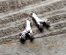 Roller Skate Charms Skate Pendants Silver Charms Roller Derby Charms Wholesale