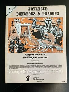 T1 Village of Hommlet- Monochrome 2nd Printing- TSR Dungeons and Dragons Module