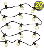 20 Piece Clear LED Festoon / Party String Globe Light Kit Warm Vintage Retro