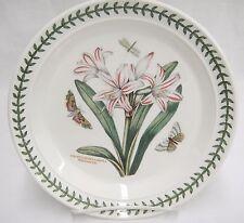 "Portmeirion Botanic Garden 8.5"" Salad Plate Belladonna Lily Moths Excellent"