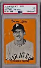 1958 Hires Root Beer Test Set Vern Law No Tab PSA 3 HS117