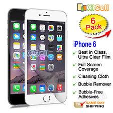 "6pk Apple iPhone 6 VI 4.7"" Screen Protector, ULTRA CLEAR PET Skin Guard Film New"