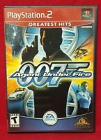 007 Agent Under Fire Bond oo7 -  PS2 Playstation 2 Game 1 Owner  Near Mint Disc