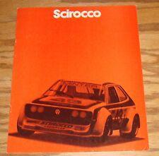 Original 1980 Volkswagen VW Scirocco Sales Brochure 80
