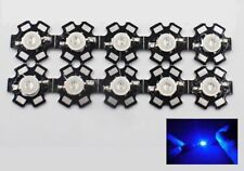 10x Hi-Power LED 3W Royalblau STAR 445-450nm 60-80lm 45mil