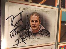 Bret Hart Signed Wrestling Card