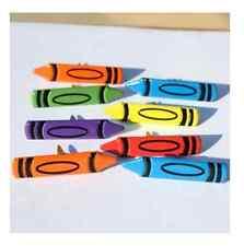Brads - Colourful crayons art drawing school caryon - pk 4 - scrapbooking