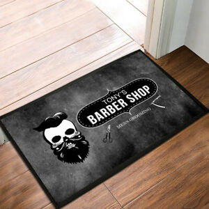 Personalised Barber Shop with any name Skull Grunge Door mat 60 x 40 cm mat