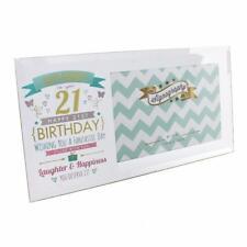 """Happy 21st Birthday Glass Photo Frame - Holds one 6"""" x 4"""" photo FG57121"""