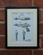 USA Patent Drawing TOY RAY GUN SCIENCE FICTION MOUNTED PRINT 1953 Xmas gift