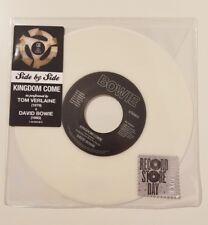 "David Bowie / Tom Verlaine  - Kingdom Come -  WHITE VINYL RSD 7"" inch record"