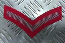 Genuine Military Issue 2 Chevron Corporal Stripes Patch Grey on Red -