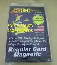 ONE (1) PRO-MOLD REAL THICK CARD MAGNETIC HOLDER - 20PT (5 YEAR+ UV)