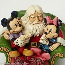 Statue Résine Disney Traditions - Santa in Chair with Mickey & Minnie Figure
