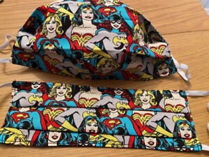 Handmade DC Comics Wonder Woman Bat Girl Super Girl Comic Adult Cotton Face Mask