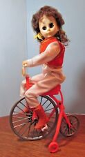 VINTAGE TOY  FASHION DOLL ON BICYCLE BATTERY OPERATED