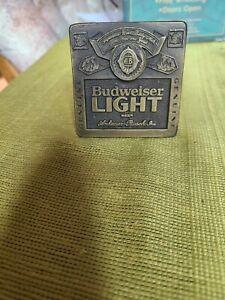 Bud Light Budweiser Beer  Belt Buckle Vintage