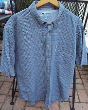 Mens COLUMBIA Outdoor Shirt, Mesh Size Medium 75% Cotton 25% Polyester