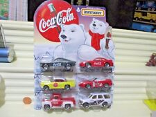 Matchbox 1999 COCA COLA POLAR BEAR SET OF 6 Dad's + Son's Models New Mint Bublpk